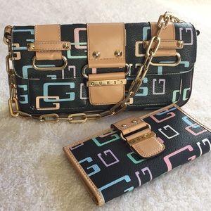 Handbags - Guess chain strap purse & matching wallet